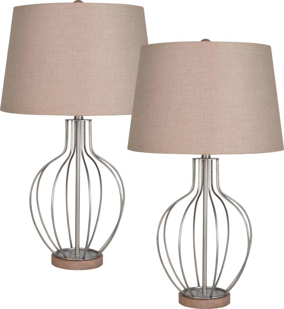 Branson Ridge Gray Lamp, Set of 2