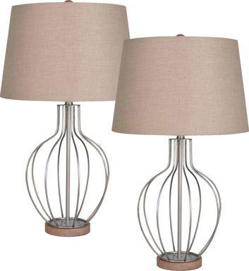 Branson Ridge Gray Set of 2 Lamps