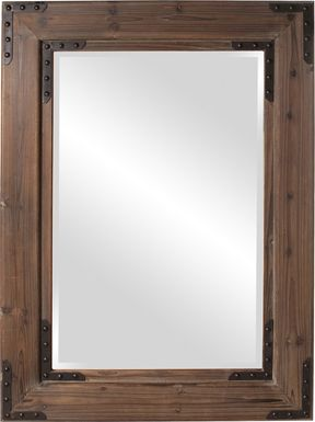 Branud Brown Rectangular Mirror