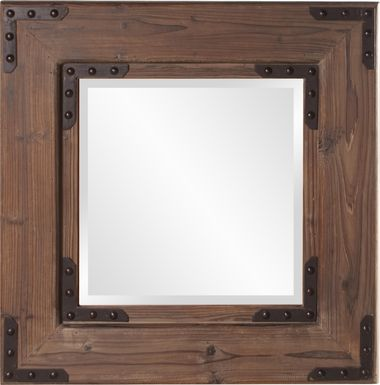 Branud Brown Square Mirror