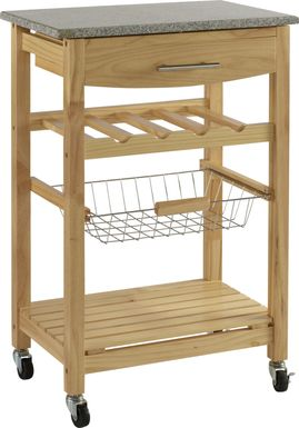 Brauner Natural Kitchen Cart