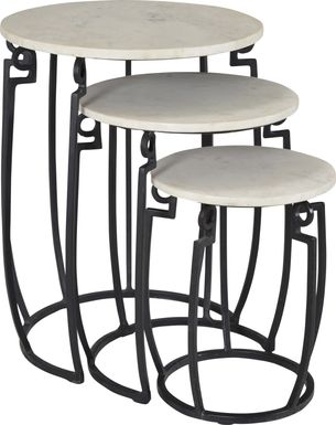 Breccan Black Set of 3 Nesting Tables