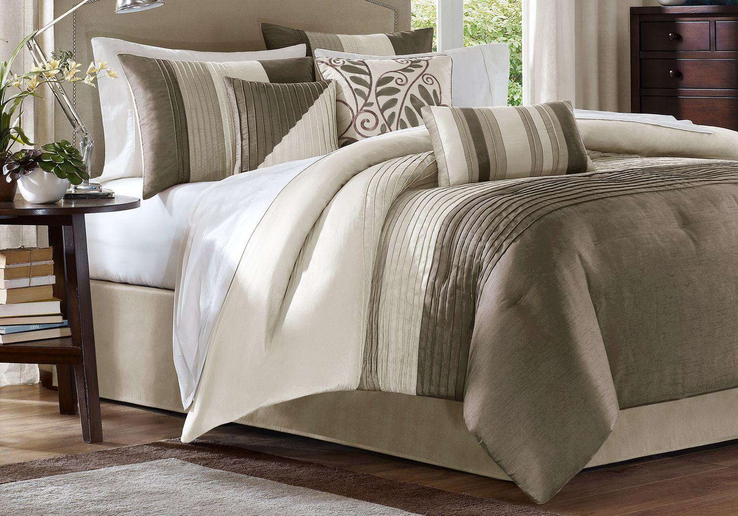 Brenna Natural 7 Pc King Comforter Set