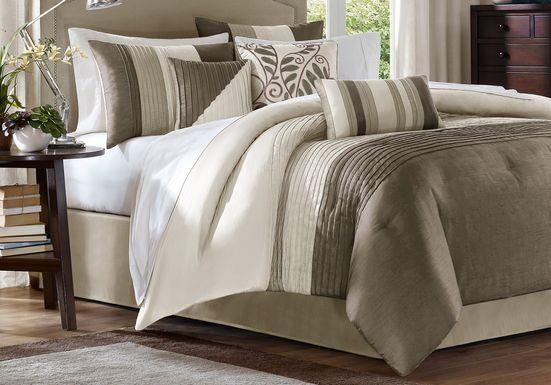 brenna natural 7 piece queen comforter set