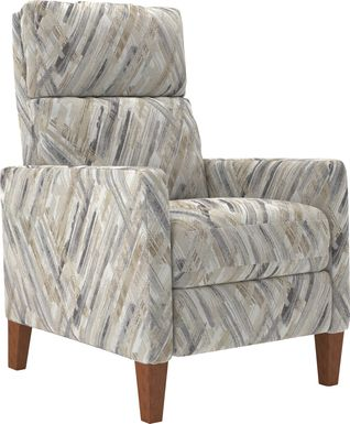 Brentway Taupe Push Back Recliner