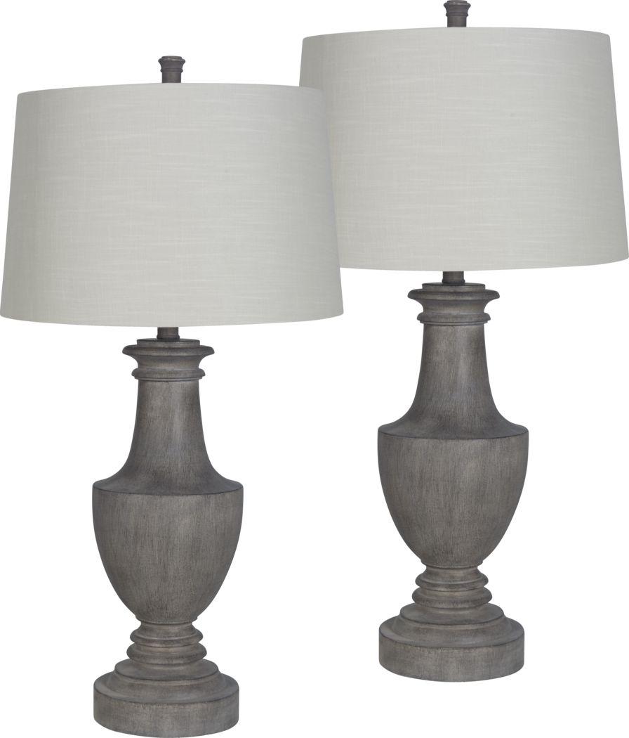 Brettonwood Gray Lamp, Set of 2