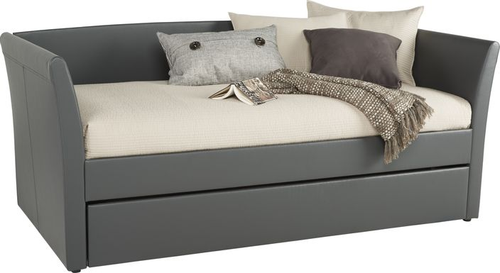 Brianne Gray Daybed with Trundle