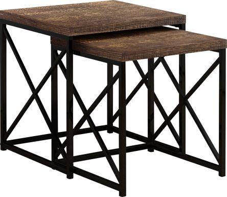 Brillock Brown Nesting Tables