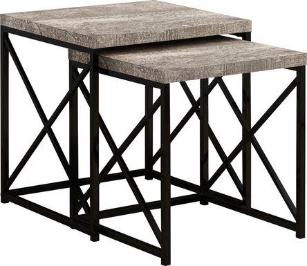 Brillock Dark Taupe Nesting Tables