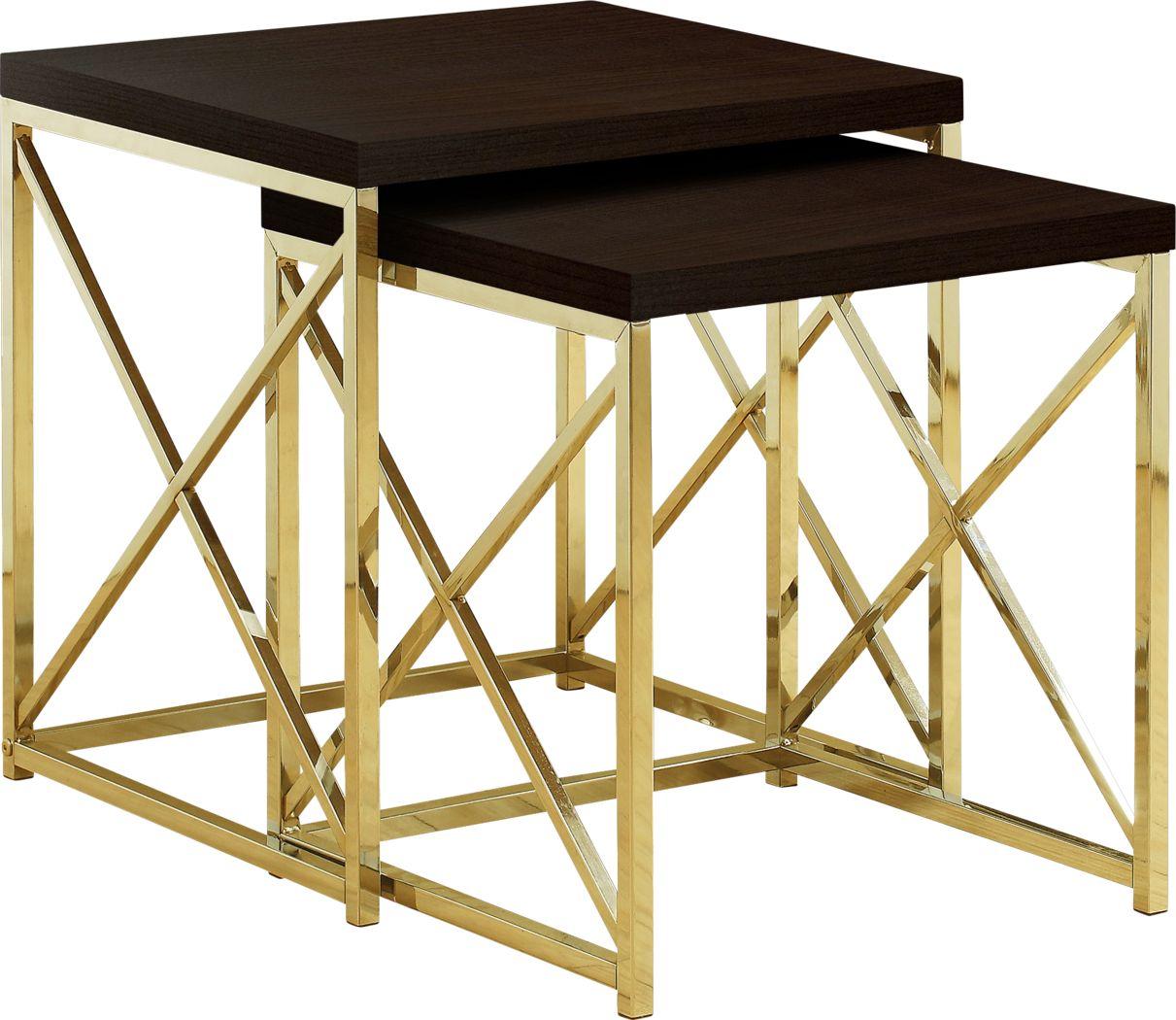 Brillock Gold Nesting Tables