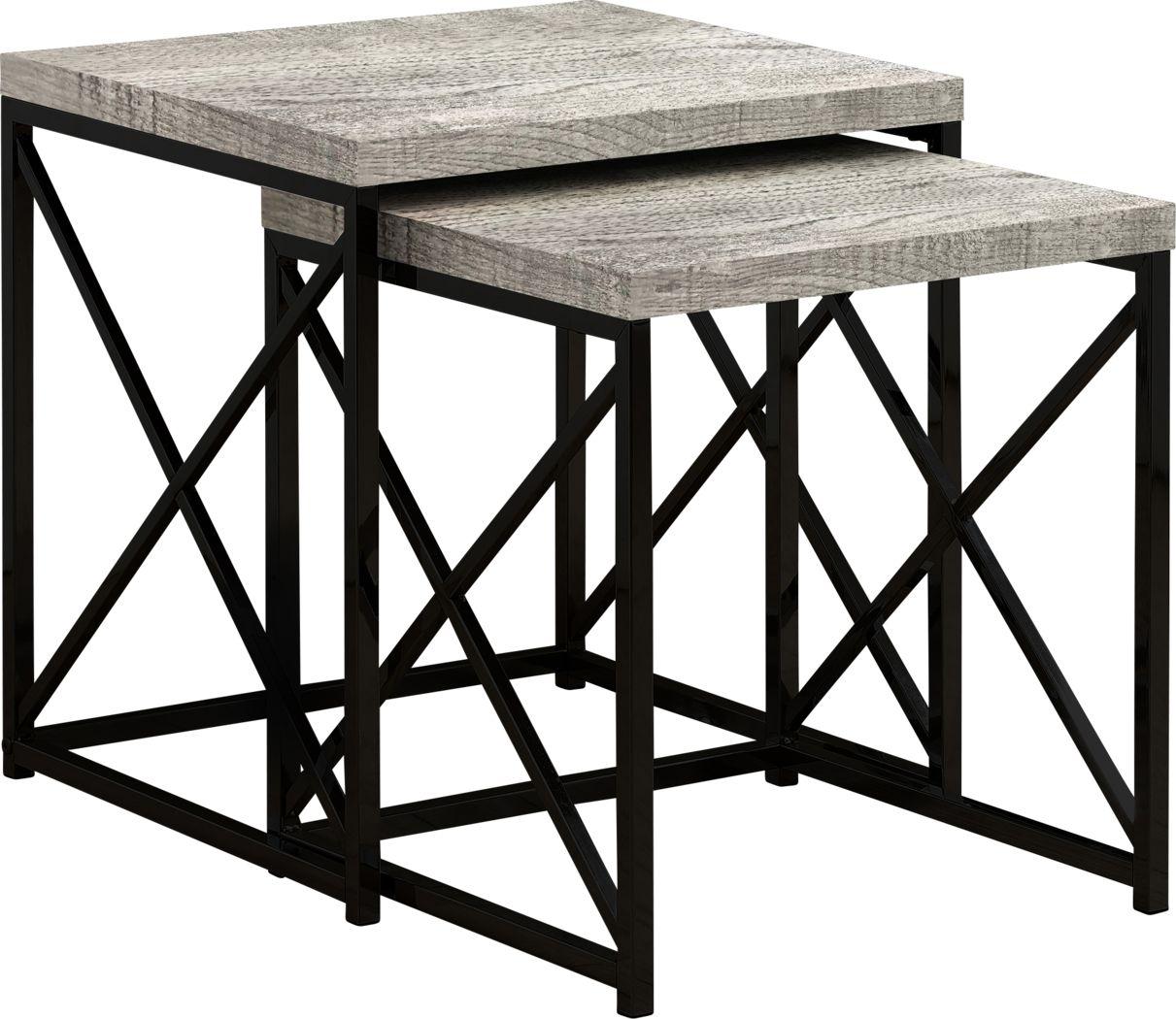 Brillock Gray Nesting Tables