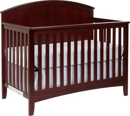 Brindley Brown Cherry Convertible Crib