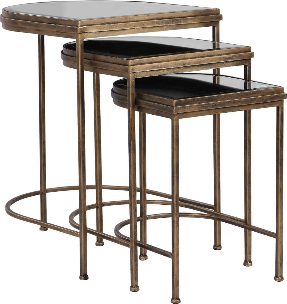 Brineton Gold Nesting Table, Set of 3