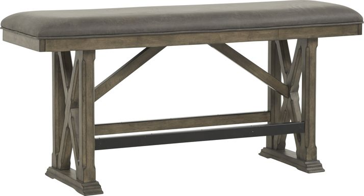 Bristow Charcoal Counter Height Bench