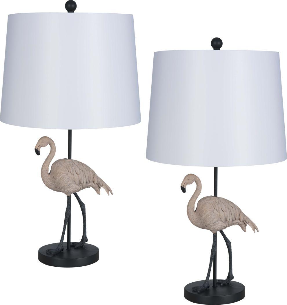 Broadford Pink Lamp, Set of 2