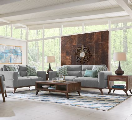 Broadview Park Gray 5 Pc Living Room