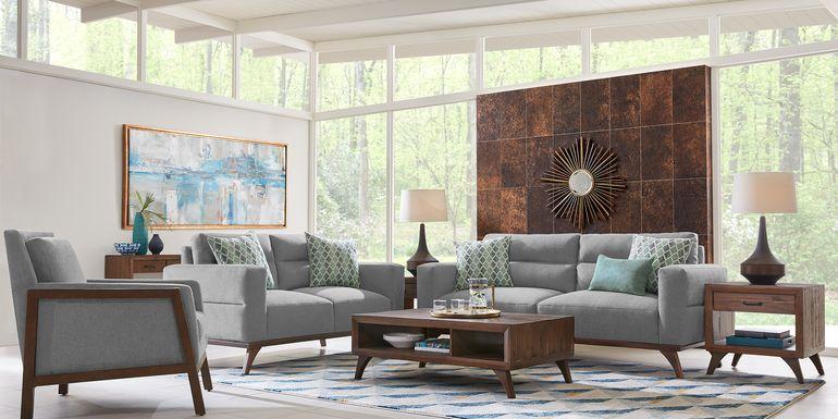 Broadview Park Gray 5 Pc Living Room