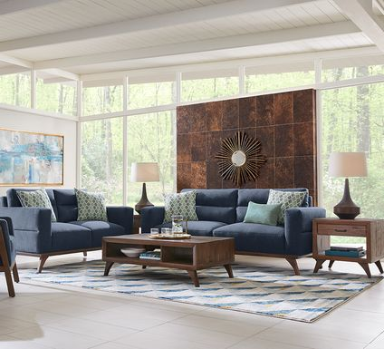 Broadview Park Navy 5 Pc Living Room