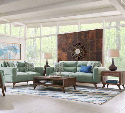 Broadview Park Sage 5 Pc Living Room
