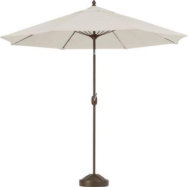 Brolly 9' Octagon Outdoor Beige Umbrella with 80 lb. Base