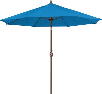 Brolly 9' Octagon Outdoor Blue Umbrella