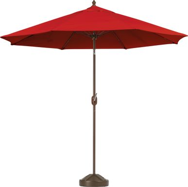Brolly 9' Octagon Outdoor Cardinal Umbrella with 50 lb. Base