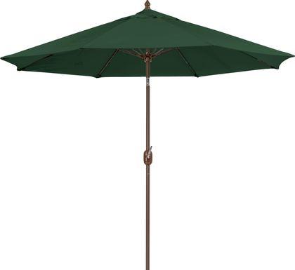Brolly 9' Octagon Outdoor Green Umbrella