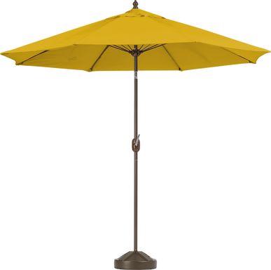 Brolly 9' Octagon Outdoor Lemon Umbrella with 80 lb. Base