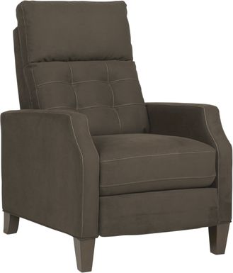Bromfield Dark Brown Microfiber Pushback Recliner