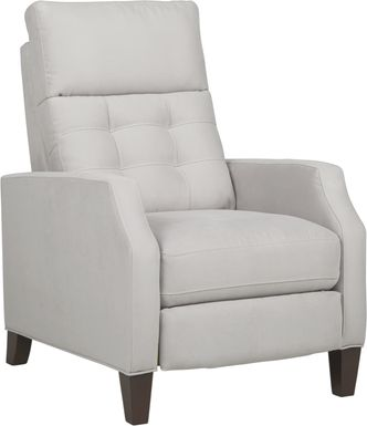 Bromfield Platinum Microfiber Pushback Recliner