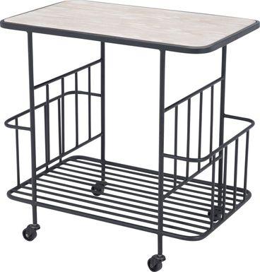 Bromley Black Bar Cart