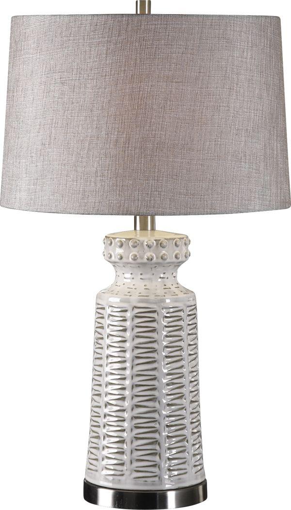 Brook Hollow White Lamp