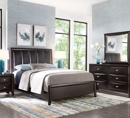 Brookeville Dark Brown 5 Pc King Upholstered Bedroom