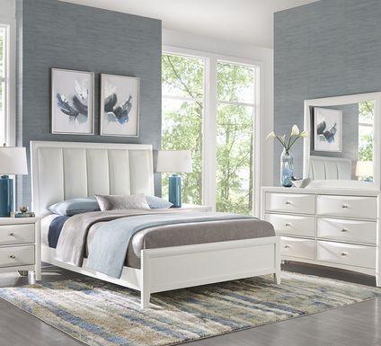Brookeville White 5 Pc King Upholstered Bedroom