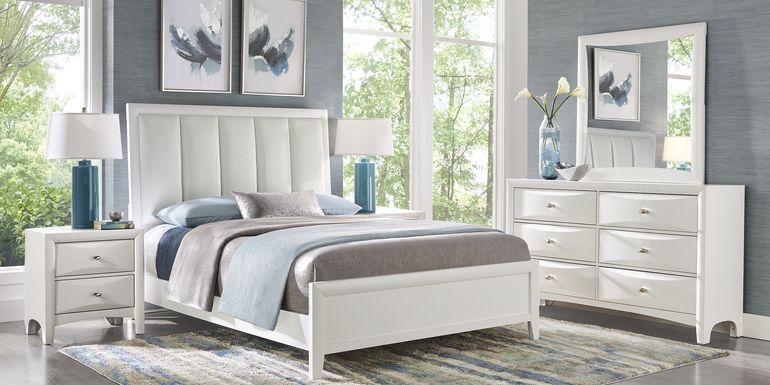 Brookeville White 7 Pc King Upholstered Bedroom