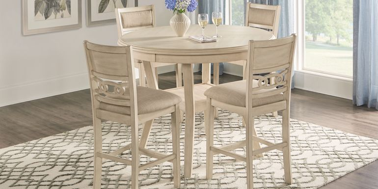 Brookgate Bisque 5 Pc Round Counter Height Dining Set
