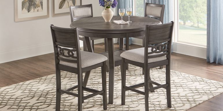 Brookgate Gray 5 Pc Round Counter Height Dining Set