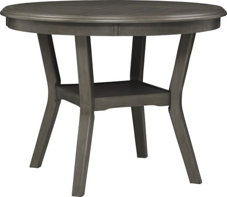 Brookgate Gray Counter Height Round Dining Table