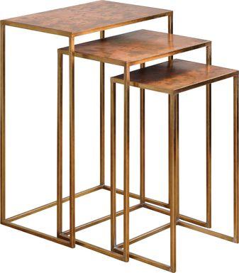 Brookvale Copper Nesting Tables, Set of 3