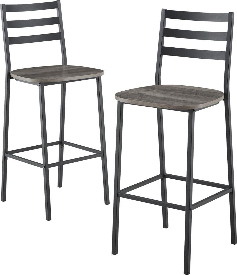 Brownsboro Gray Counter Height Stool, Set of 2