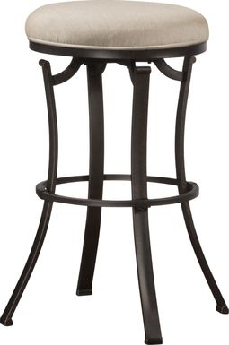 Bryce Black Outdoor Swivel Barstool