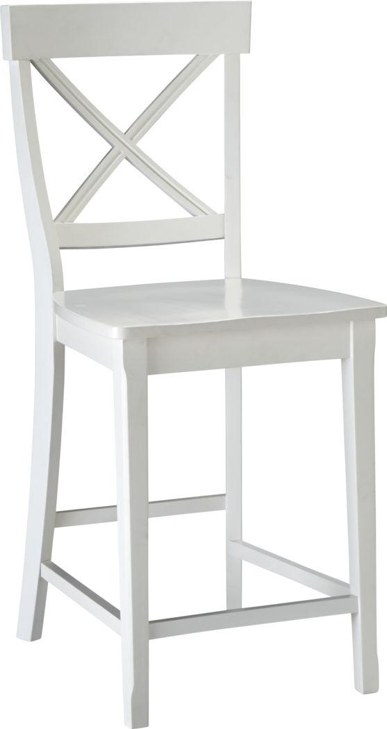 Brynwood White Counter Height Stool