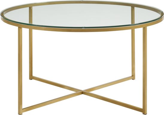Bryon Alley Gold Cocktail Table