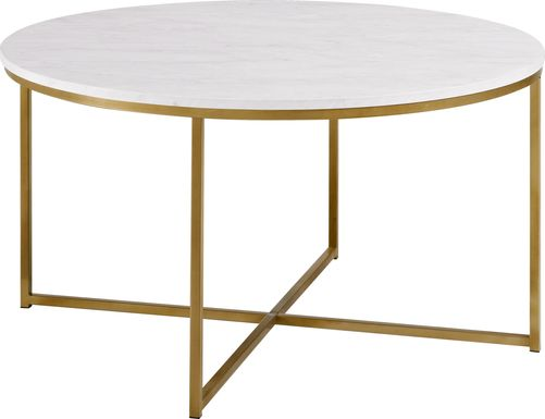 Bryon Alley White Cocktail Table