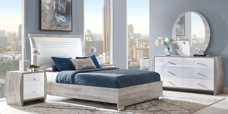 Buccone Heights White 7 Pc Queen Bedroom