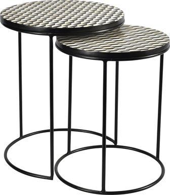 Bunce Black Nesting Tables, Set of 2