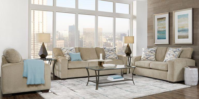 Burke Sandstone 2 Pc Living Room