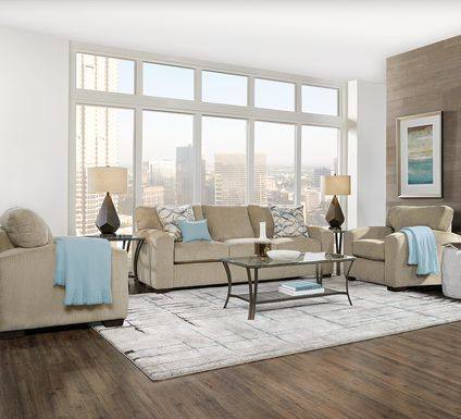 Burke Sandstone 5 Pc Living Room