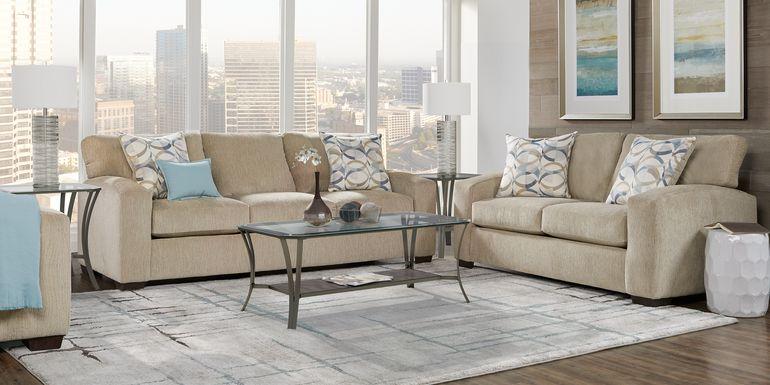 Burke Sandstone 8 Pc Living Room