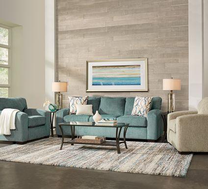 Burke Teal 5 Pc Living Room